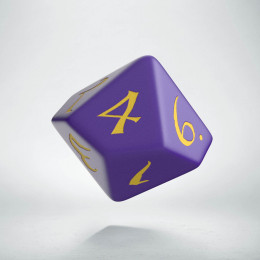 D10 Classic Purple & yellow Die (1)