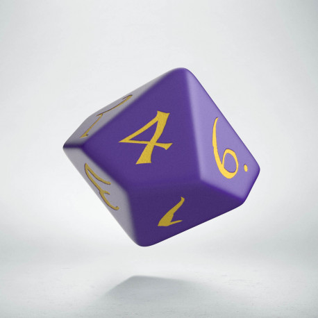 D10 Classic Purple & yellow Die (1)