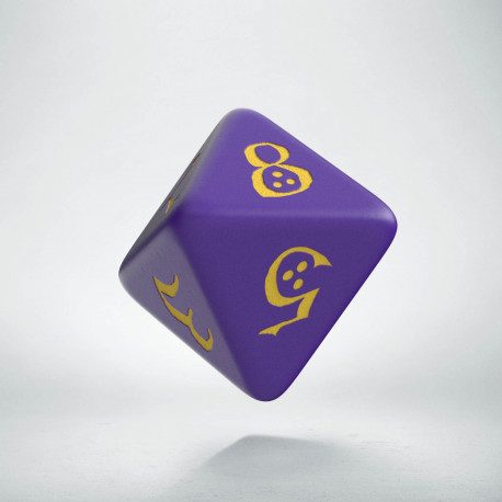D8 Classic Purple & yellow Die (1)