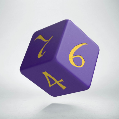 D6 Classic Purple & yellow Die (1)