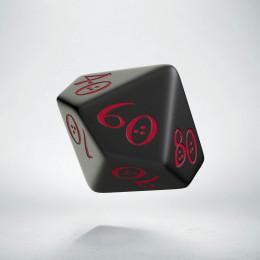 D100 Classic Black & red Die (1)