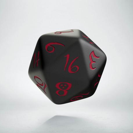 D20 Classic Black & red Die (1)