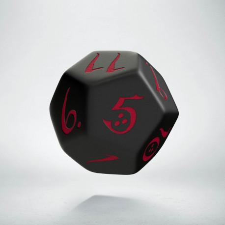 D12 Classic Black & red Die (1)