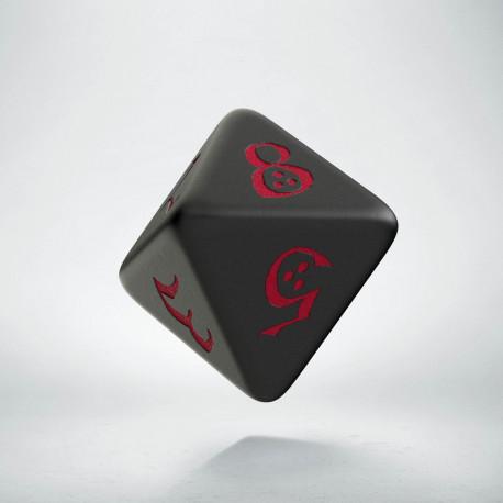 D8 Classic Black & red Die (1)