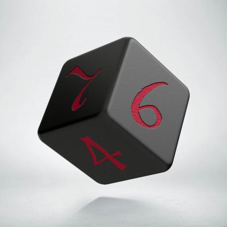 D6 Classic Black & red Die (1)