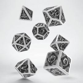 Kości RPG Celtyckie Biało-czarne VINTAGE