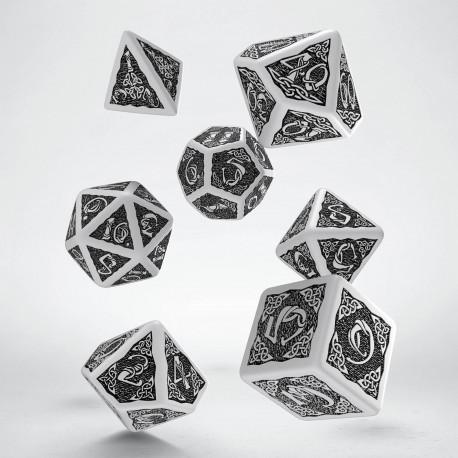 Kości RPG Celtyckie Biało-czarne (Stary wzór)