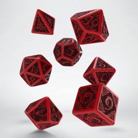 Kości RPG Celtyckie Czerwono-czarne VINTAGE