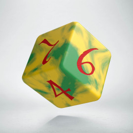 D6 Classic Yellow & Green-Red Die (1)