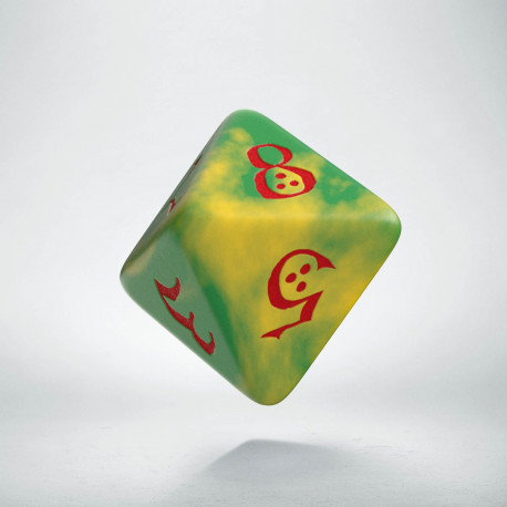 D8 Classic Die Yellow & Green-Red