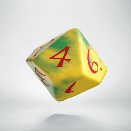 D10 Classic Yellow & Green-Red Die (1)