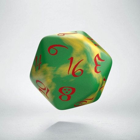 D20 Classic Yellow & Green-Red Die (1)