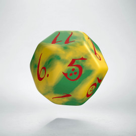 D12 Classic Yellow & Green-Red Die (1)