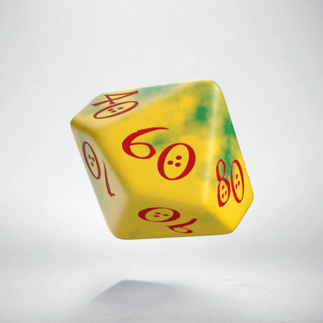 D100 Classic Yellow & Green-Red Die (1)