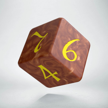 D6 Classic Caramel & yellow Die
