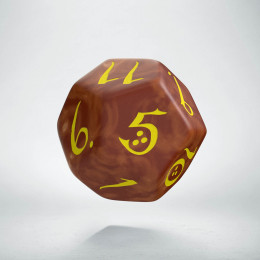 D12 Classic Caramel & yellow Die (1)