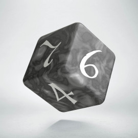 D6 Classic Smoky & white Die (1)