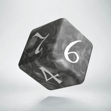 D6 Classic Die Smoky & white