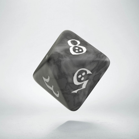 D8 Classic Smoky & white Die (1)