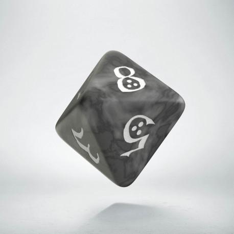 D8 Classic Smoky & white Die (1)