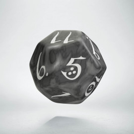 D12 Classic Smoky & white Die (1)