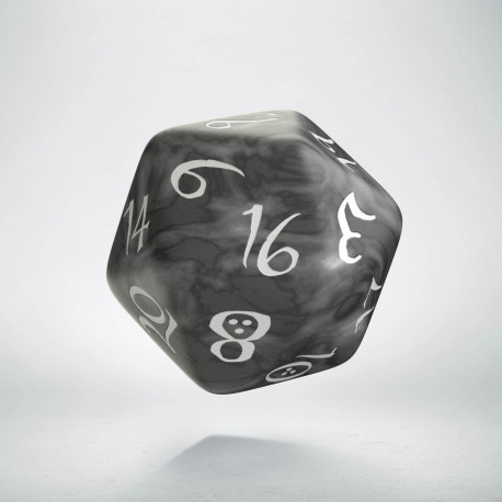 D20 Classic Die Smoky & white
