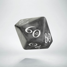 D100 Classic Smoky & white Die (1)
