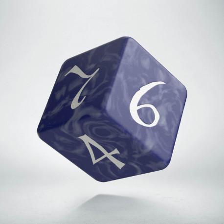 D6 Classic Cobalt & white Die (1)