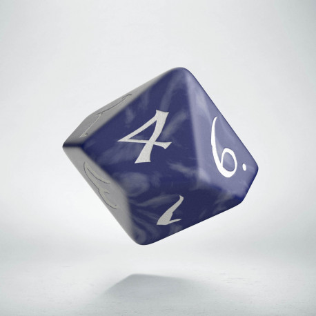 D10 Classic Cobalt & white Die (1)