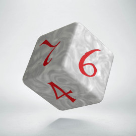 K6 Kość Klasyczna Perłowo-czerwona