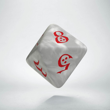 D8 Classic Die Pearl & red