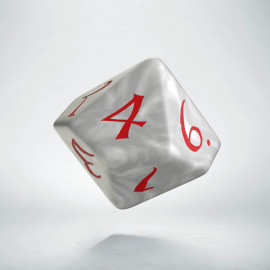 D10 Classic Pearl & red Die (1)