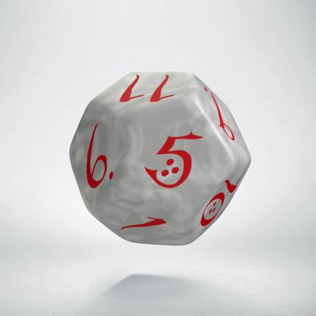 D12 Classic Pearl & red Die (1)