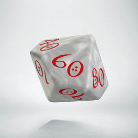 D100 Classic Die Pearl & red