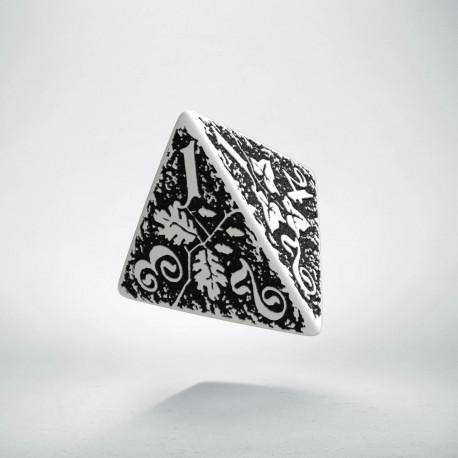 D4 Forest White & black Die (1)