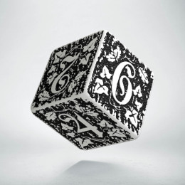 D6 Forest White & black die (1)