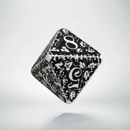 D8 Forest White & black die (1)
