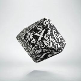 D10 Forest White & black die (1)
