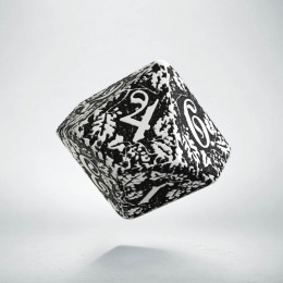D10 Forest White & black die (1)