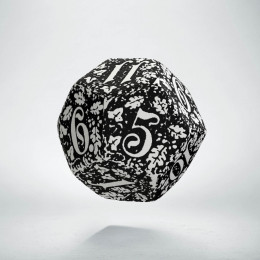 D12 Forest White & black Die (1)