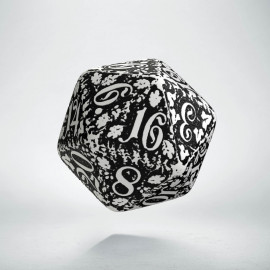 D20 Forest White & black Die (1)