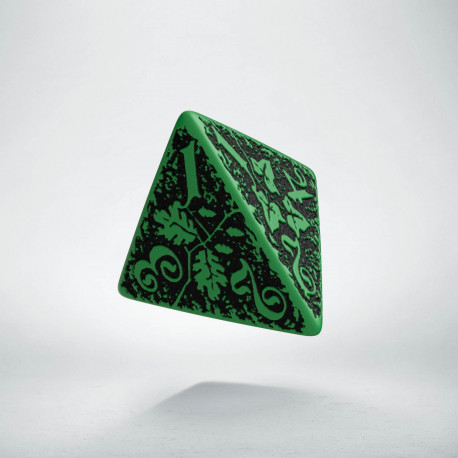 D4 Forest Green-black die