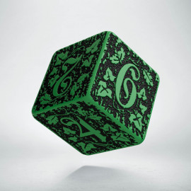 D6 Forest Green-black die