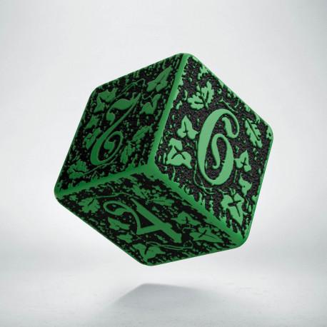 D6 Forest Green-black die