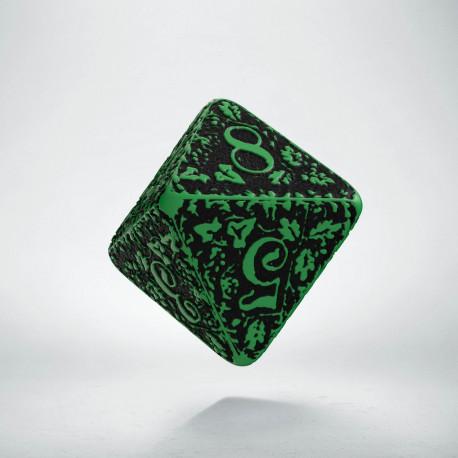 D8 Forest Green-black die