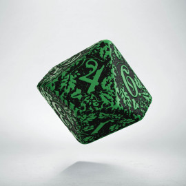 D10 Forest Green-black die