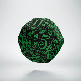 D12 Forest Green & black Die (1)