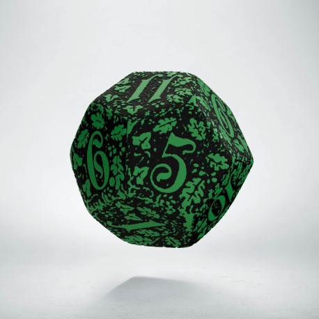 D12 Forest Green-black die
