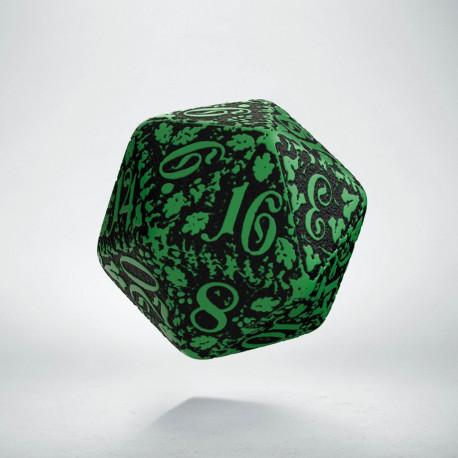 D20 Forest Green-black die
