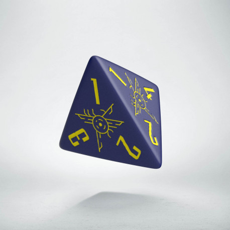 D4 Galactic Die Navy & Yellow